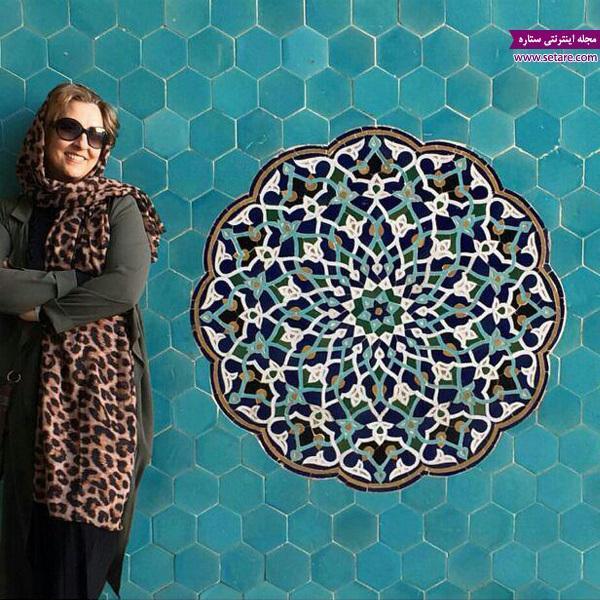 مرجانه گلچین در مسجد جامع یزد