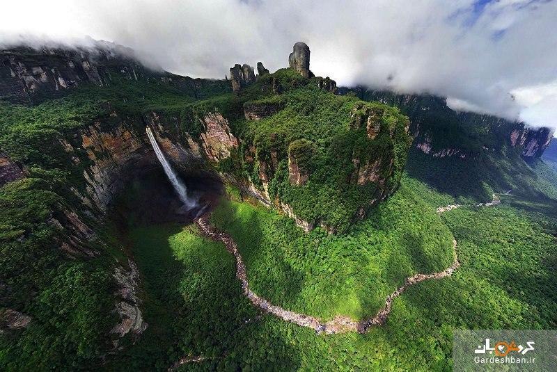 آبشار آنجل ونزوئلا؛بلندترین آبشار جهان، عکس
